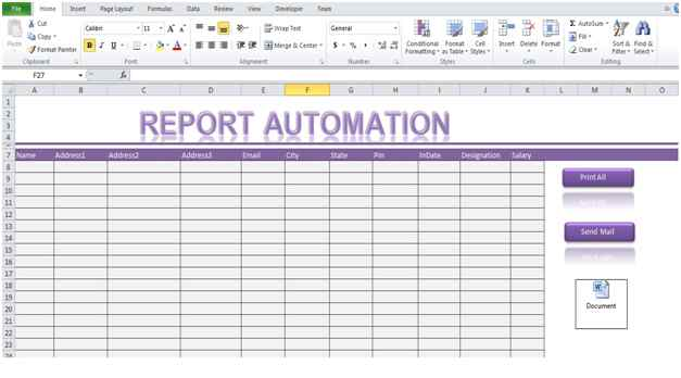 Report Automation Template Using Excel Macro