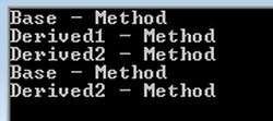 Output-Method Overriding-Method Hiding