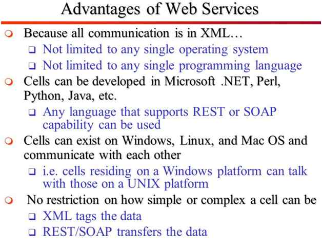 advantage of web service