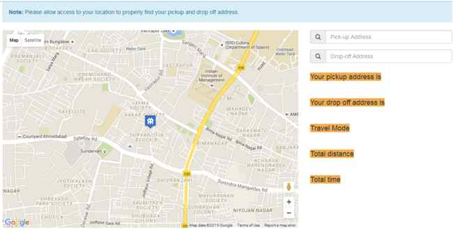Google Map Route Direction, Custom Pin Point, Calculate Distance And on