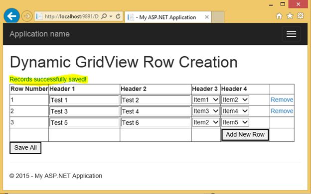Dynamically Adding and Deleting Rows in GridView and Saving All Rows ...