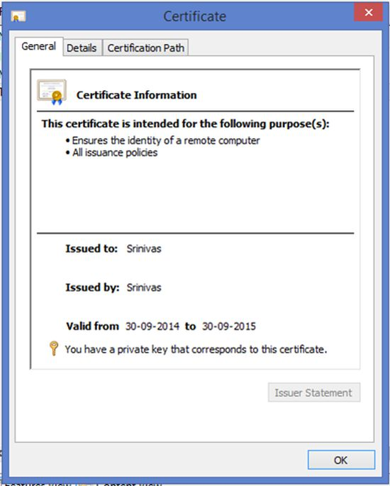 Server Certificates In IIS 8