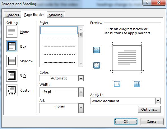 Insert page border in word 2013 page border in word2013g ccuart Gallery