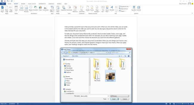 how to make a double sided document in word 2013
