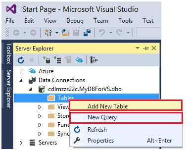 Use of sql azure in visual studio 2015 step by step guide - How to find a table in sql server management studio ...
