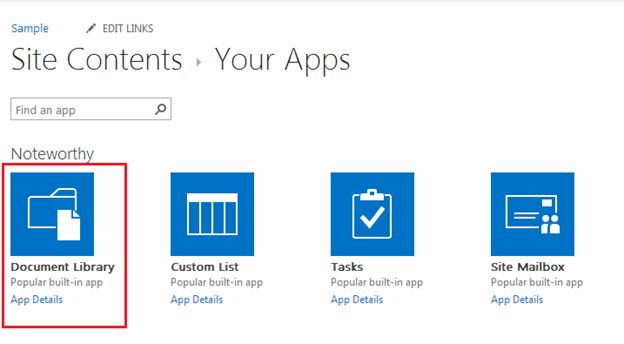 Create Document Library In Sharepoint 2013 Online