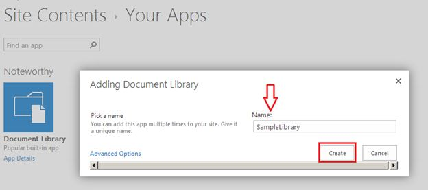 name for your document library