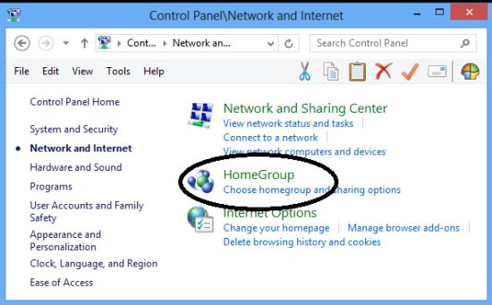 Changing HomeGroup Password in Windows 8