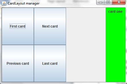Card Layout Manager