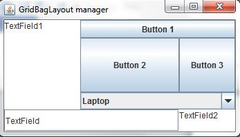 GridBag Layout Manager