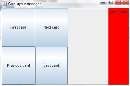 Last Card in Layout Manager