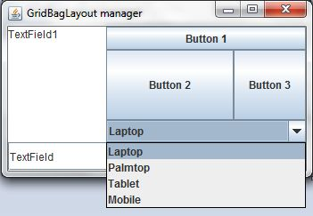 New GridBag Layout Manager