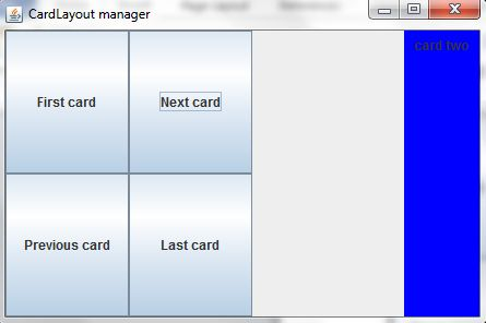 Next Card in Layout Manager