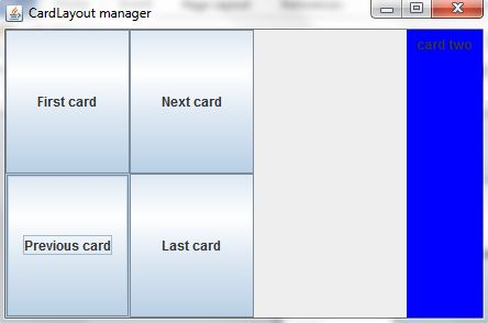 Previous Card in Layout Manager