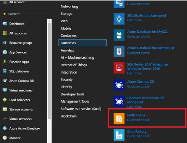 Azure Redis Cache To MVC Application