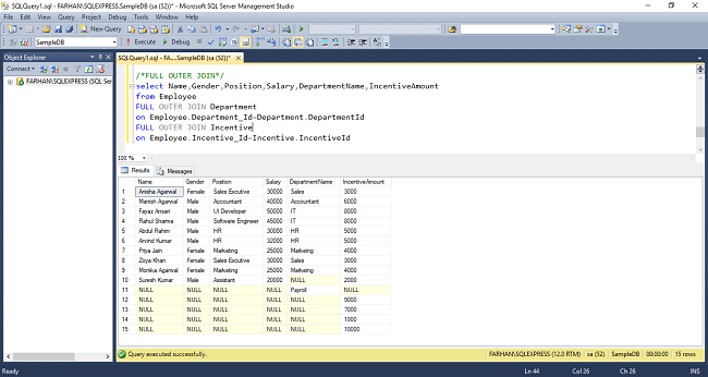 JOIN Tables Without Foreign Key In SQL Server