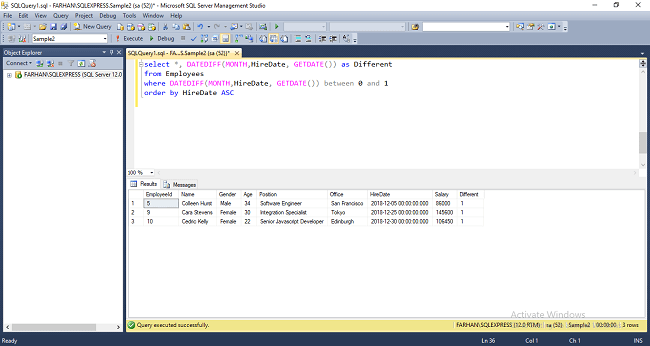 How To Find Employees Hired Last Month Or Year In SQL Server