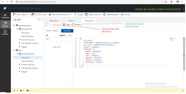 Query Using Azure Document-DB SQL