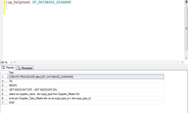 Set Up a Database Diagram Using a Stored Procedure In SQL Server