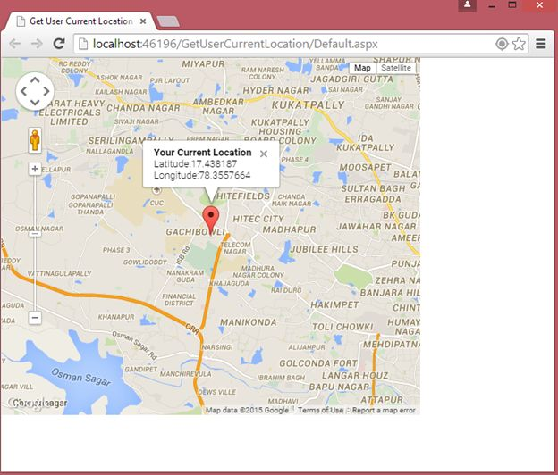 User Current Location on Google Map using GeoLocation API in Website