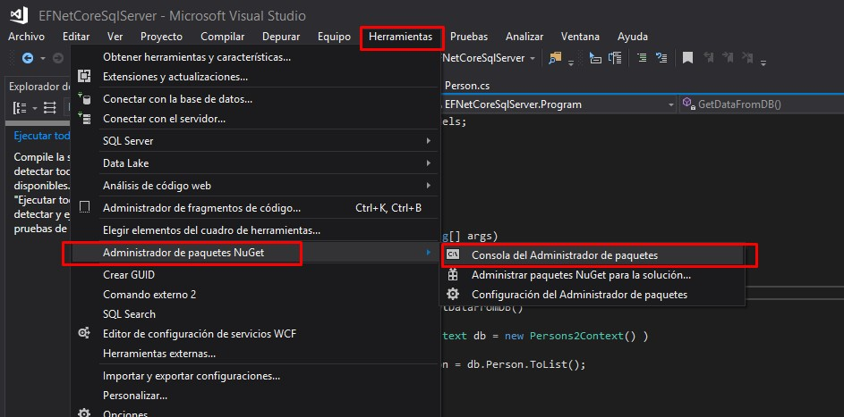 Connection To Database Using .NET Core, SQL Server And Scaffolding