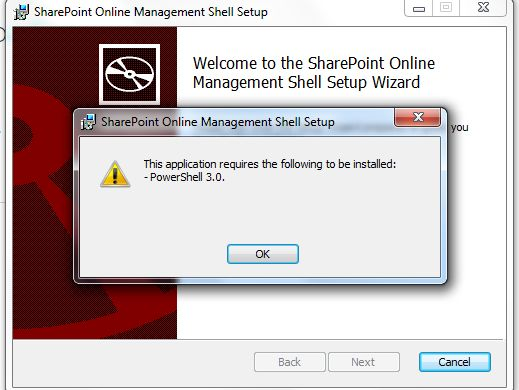 Installing SharePoint Online Management Shell