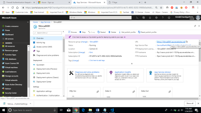 Create Web App In Azure And Publish Using File Explorer