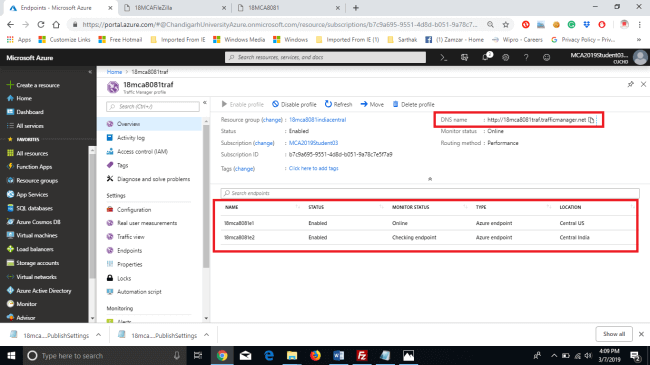Create Traffic Manager On Azure To Manage Requests To A Web Resource Located On Multiple Data Centers