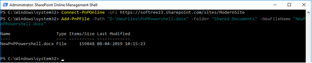 Add and Manage SharePoint Files Using PnP PowerShell