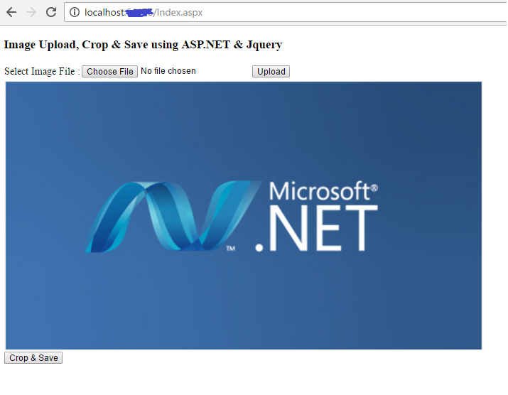 How To Crop Image And Save The Cropped Image Using ASP NET And jQuery