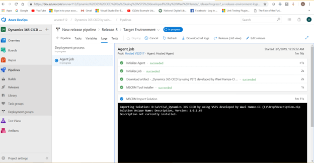 Export And Import Solution From One Environment To Another Using Continuous Integration And Deployment Using Visual Studio Team Services
