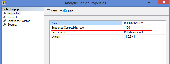 Check Current Installation Mode In SSAS