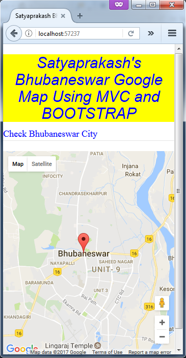 Google Map Using Bootstrap In Asp Net Mvc Part One