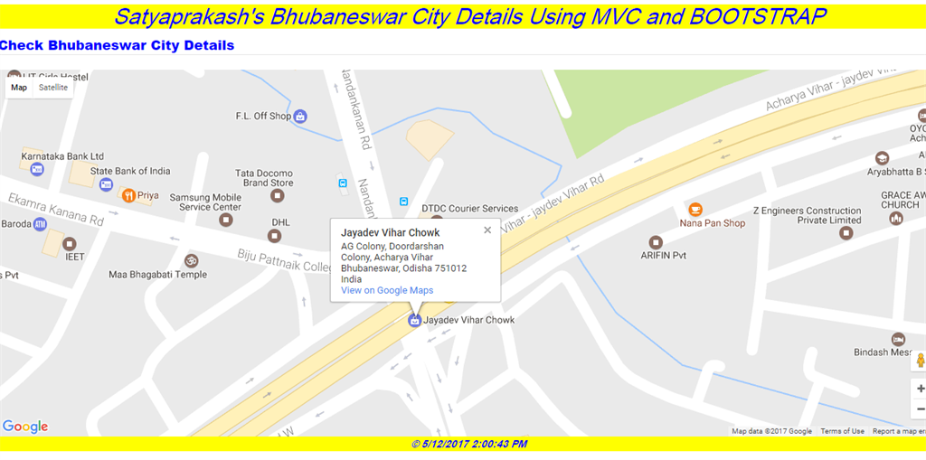 Google Map Using Bootstrap In ASP NET MVC - Part Two