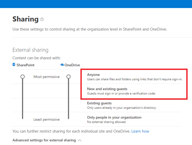 Share Document From SharePoint Online To Outside User