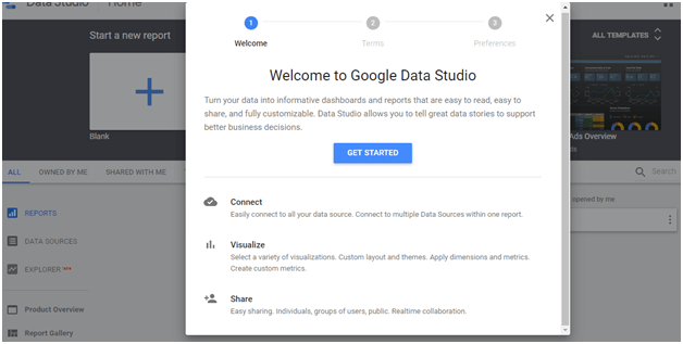 Quick Start with Google Data Studio