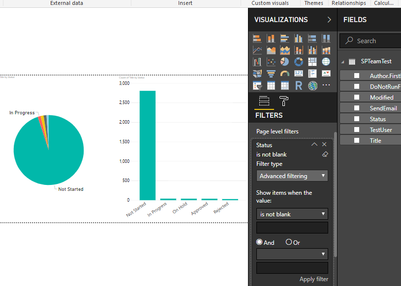 Power BI Page Level And Report Level Filters