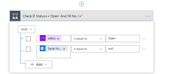 Checking For Null Value In MS Flow Condition