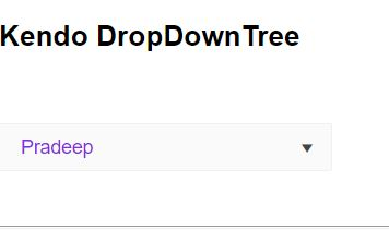 Using Templates In Kendo DropDownTree