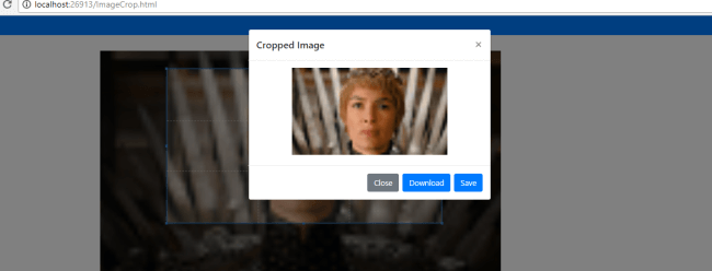 Image Crop in JQuery HTML