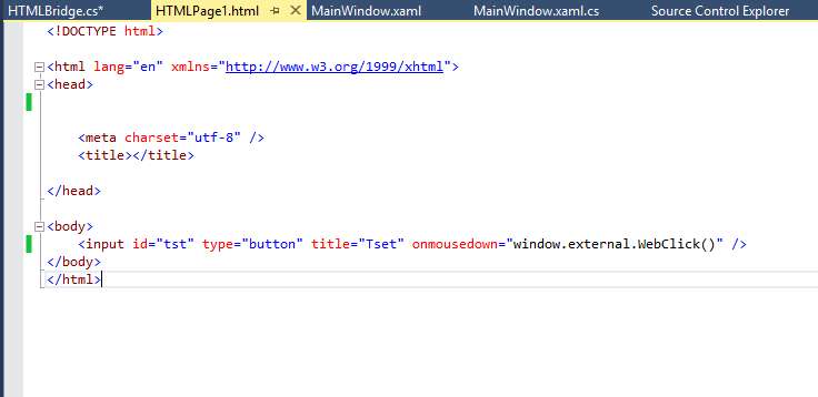 Calling WPF method from HTML