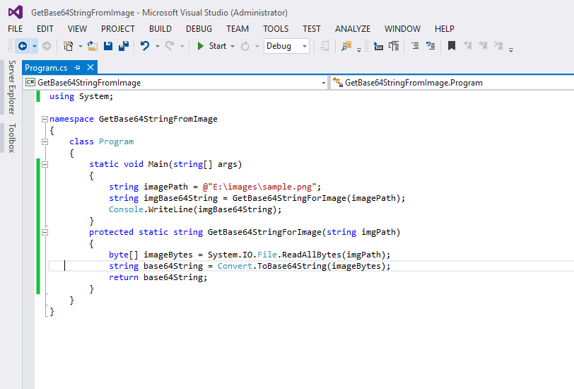 Get Base64 String From Image In C#