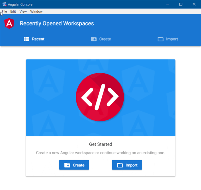 Angular Console UI For Developers
