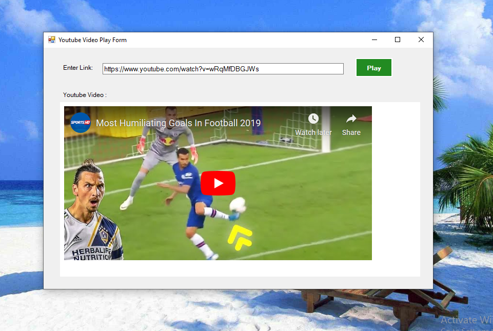 Play Youtube Videos In Desktop Application Using C#