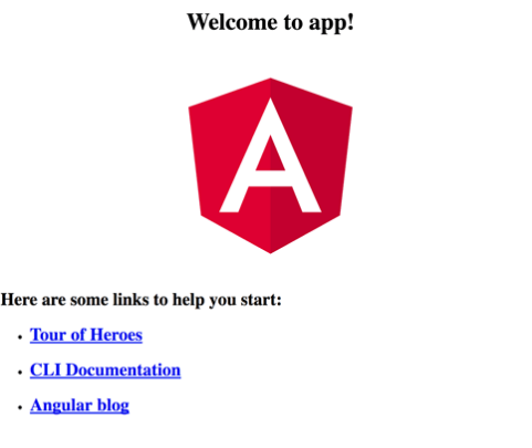 Angular web app screen