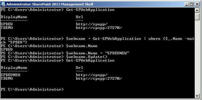 Change The Web Application Name In SharePoint On-Premises