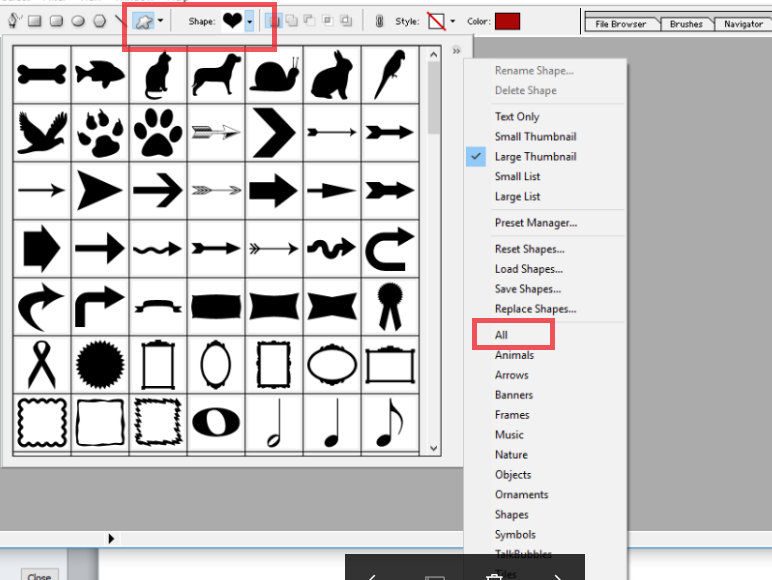 Create Custom Shape In Adobe Photoshop 7.0