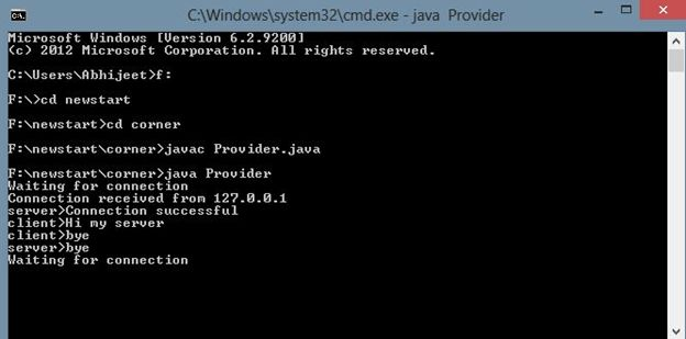 how to connect a client to a server in java