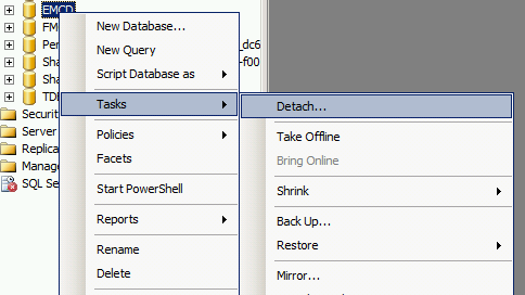 Move SharePoint Content Database From One Drive To Another Drive On Same Server