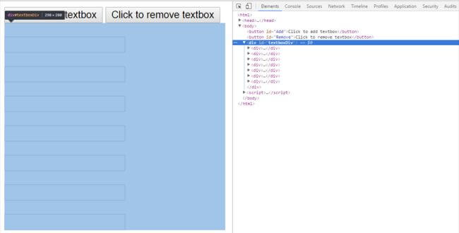 Dynamically Adding And Removing TextBoxes On A Button Click Using jQuery